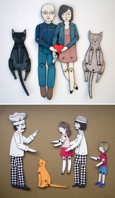 personalized paper dolls :)