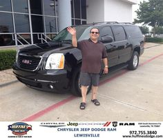 Congratulations to Ali Houdaee on your #GMC #Yukon Xl purchase from Mark Gill at Huffines Chrysler Jeep Dodge Ram Lewisville! #NewCar
