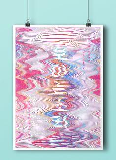 """""""보이는 소리""""라는 컨셉에 맞게 음파를 형상하는듯한 그래픽을 이용하여 디자인한 일러스트 작품.////////보이는 소리 - 브랜딩/편집 ·…"""