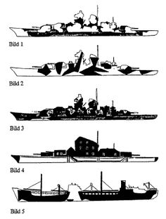 5 camoflages for naval ships