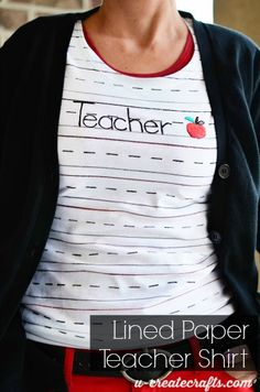 How to make a school-lined t-shirt at U-createcrafts
