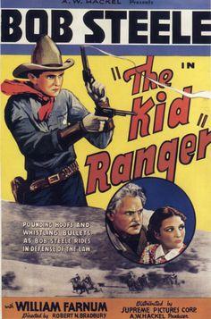 THE KID RANGER (1936) - Bob Steele - William Farnum - Joan Barclay - Written & Directed by Robert N. Bradbury - Supreme Pictures Corp. - Movie Poster.