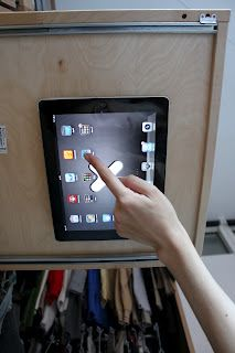 Our iPad underneath a drawer using Wallee mount disk. Loving it!  MariaTeorien