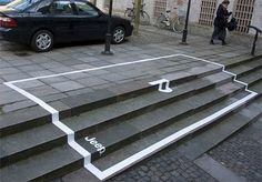 Guerrilla marketing - Jeep parking advertisement. Love it!
