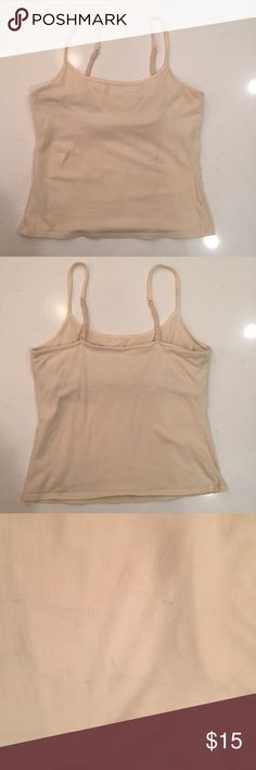 Lady Foot Locker Cami Tank with shelf bra Lady Foot Locker Cami Tank with shelf bra Size: M Adjustable straps Off White See photos for condition. Lady Foot Locker Tops Camisoles
