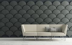 Ginkgo-shaped acoustic panels from Stone Designs.