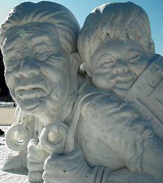 Beautiful snow sculpture