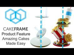 Build Gravity Defying Cakes with Cake Frame - YouTube