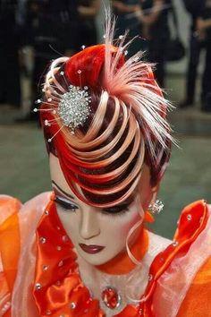 OMC HairWorld Championships, Fantasy hair competition #hotonbeauty fb.com/hotbeautymagazine