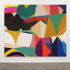 """""""Inca"""" from William Lachance's solo show """"(After) Edge City"""" London Geometric Painting, Abstract Canvas, Abstract Shapes, Amazing Paintings, Mural Art, Wall Art, Contemporary Paintings, Art Day, Sculpture Art"""