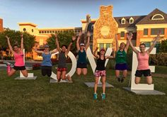 After completing a 3.5-mile loop, we stopped at the LOVEworks, and took advantage of taking several fun photos: LOVERun Jump!