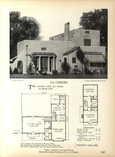 1000 images about 1910 1940 mediterranean revival on for Spanish bungalow floor plans