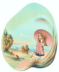painted sea shell
