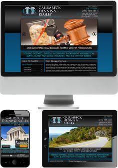 Virginia Criminal Defense Lawyers Galumbeck, Dennis & Kegley Website Design - Check out our newest portfolio designs at http://firstpageattorney.com/web-design-portfolio/