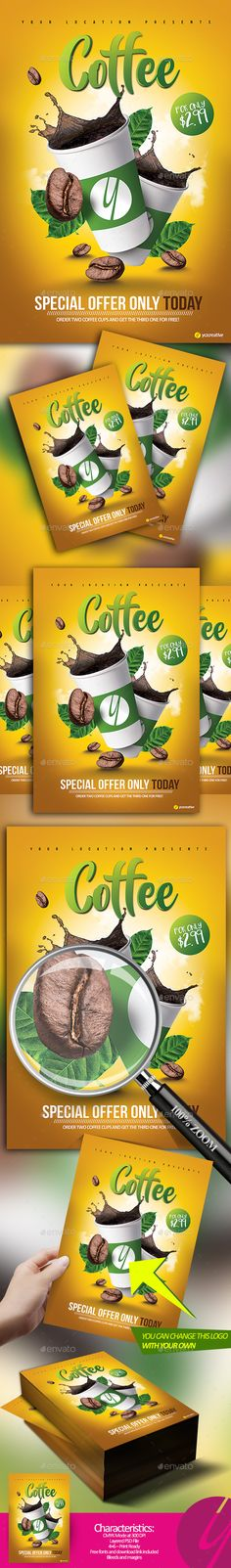 Coffee Special Offer - Restaurant Flyers
