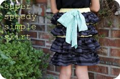 Sewing with Knits Mondays - Super Speedy Simple Skirt Tutorial from Katy of No Big Dill