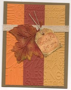 SOFT SUEDE FALL by ppoc1000 - Cards and Paper Crafts at Splitcoaststampers
