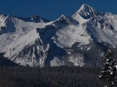 14,000 foot Wilson Peak dominates the view from Telluride ski area on a particularly beautiful morning last March.