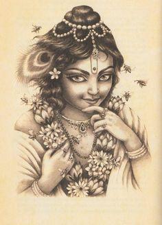 <3 Krishna Krishna Gif, Krishna Leela, Radha Krishna Wallpaper, Cute Krishna, Radha Krishna Love, Krishna Radha, Krishna Tattoo, Yashoda Krishna, Back Tatto