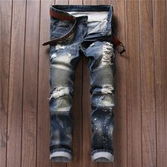 Herrenmode DenimJeans Flut Männlich Bikerhose Retro Getragen Jeans-Patch 550-2   Kleidung & Accessoires, Herrenmode, Hosen   eBay!