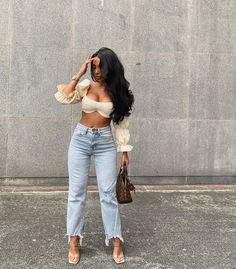 Night Out Outfit, Night Outfits, Spring Outfits, Fashion Outfits, Hope Fashion, Jeans Fashion, Casual Brunch Outfit, Cute Casual Outfits, Simple Outfits