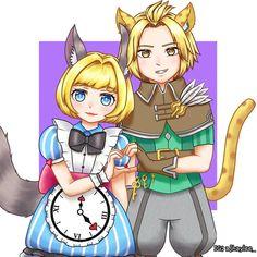 - Harith and Nana in Savannah cat and Cloc. Mobile Legends, Savannah Chat, Geek Stuff, Fan Art, Bb, Profile, Ship, Fictional Characters, Nice