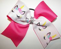 Sparkly Unicorn Neon Pink Cheer Bow Pink Cheer Bows, Cheer Hair Bows, Cheerleading Bows, Unicorn Birthday, Pink Hair, Girl Hairstyles, My Hair, Hair Clips, Hair Beauty