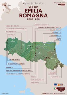 Tutti i vini DOP (DOCG e DOC) dell'Emilia-Romagna, localizzati sulla carta regionale. Al link le informazioni sulle tipologie e sugli uvaggi. Italian Wine Region Emilia Romagna Wine News, Spanish Wine, Wine Tasting Party, Wine Guide, Italy Map, Italian Wine, Wine List, Cabernet Sauvignon, Wine Drinks
