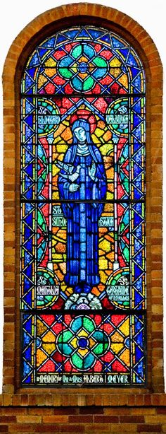 church stainglass | Click here to see a detailed view of the image of Saint Scholastica