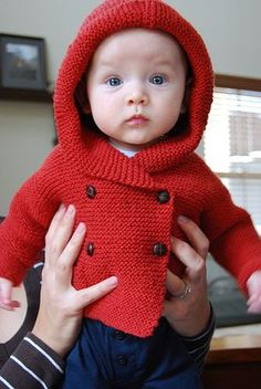 """Baby """"Duffle Coat"""" - pattern by Debbie Bliss - she makes the BEST baby patterns!"""