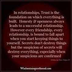 Honesty & Openness