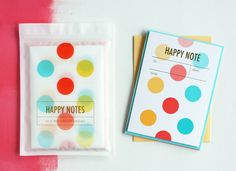 a happy note {giveaway}...