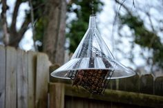 Squirrel Away Baffle simple low tech way to keep squirrels off your wild bird food. The Best Nest of GA ( Wild Bird Food, Wild Birds, Johns Creek, Squirrels, Bird Feeders, Nest, Backyard, Good Things, Store