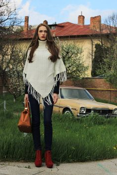 Spring day Poncho Outfit, Spring Day, Outfit Of The Day, Diana, Bell Sleeve Top, Street Style, Fashion Bloggers, My Style, Board