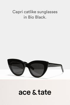 18f52d7ffb Capri - Catlike sunglasses - Black - View More Prescription Lenses