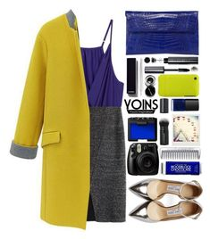 """Yoins #20"" by blueberrylexie ❤ liked on Polyvore featuring Japonesque, Jimmy Choo, NARS Cosmetics, Bobbi Brown Cosmetics, Chanel, BERRICLE, Nancy Gonzalez, Cara, Topshop and women's clothing"