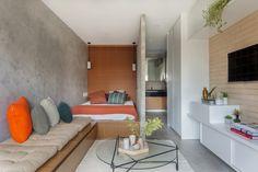 Com ideias criativas e soluções acertadas, este apartamento pequeno conta com organização e estilo de sobra
