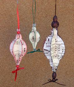 Paper Ornaments by Design Team Member Marjorie Eades.