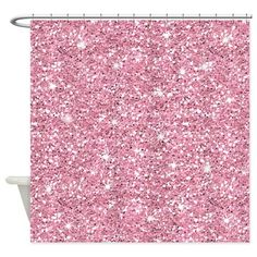 Pink Glitter Shower Curtain.. Wth!! I didn't know this actually exist.. I want this!!