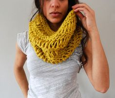 Drop Stitch Cowl in Citron | Flickr - Photo Sharing!