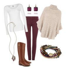 """""""Casual Thanksgiving"""" by katherineinsley-candi on Polyvore featuring 7 For All Mankind, Jane Norman, G-Star, Tory Burch and Chloe + Isabel"""