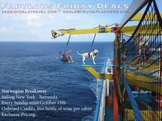 Fabulous Friday Deal Kassidy Gala Travel kgala@cruiseplanners.com #traveldeal #cruise #norwegianbreakaway