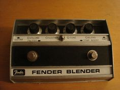 Vintage 1974 Fender Blender Octave Distortion Guitar Effects Pedal MBV SP