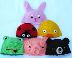 Crochet hats that Chan and I wanna try making..