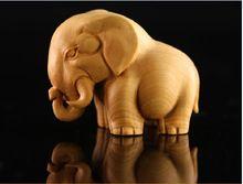 boxwood sculpture African animal small home decoration rhino hippopotami elephantdecoration crafts gift wood carving(China (Mainland))
