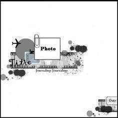 arrow instead of plane Scrapbook Layout Sketches, Scrapbook Templates, Scrapbook Designs, Card Sketches, Scrapbook Paper Crafts, Scrapbook Supplies, Scrapbooking Layouts, Scrapbook Cards, Digital Scrapbooking