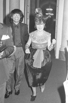 Anna Piaggi with Kenzo