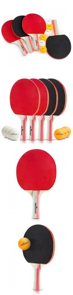 Sets 158955: Table Tennis Paddle Set Ping Pong Paddles Rackets 4 Players 6 Balls Kit -> BUY IT NOW ONLY: $31.16 on eBay!