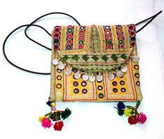 Vintage Banjara clutch Indian Banjara embroidery purse multi color hand embroidered mirror work banjara purse vintage coins tassel on Etsy, US$49.00