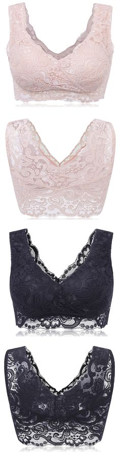 Sexy Lace Breathable No Rims Ultrathin Full Cup Vest Bras